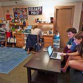 Students at dorm